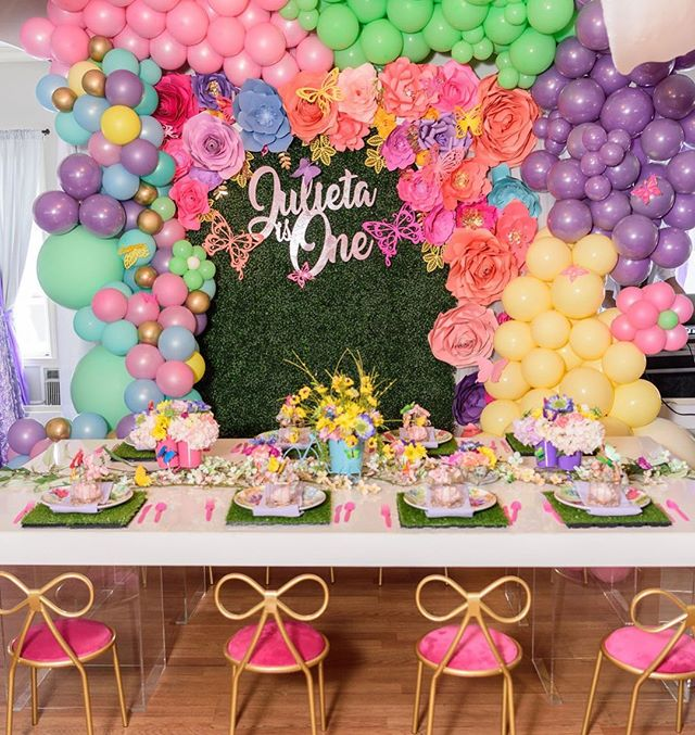It's a celebration for a beautiful one year old and her friends! #greatgrace2019  Photography: @crystal_artis  Design&Decor & Florals: @uniqueroseevents @angelicaunique  Rentals: @georgia_party_rentals  Organic Balloons and door arch: @beholdballoons  Custom Lazor cut name: @mypartydivas  Green wall, paper flowers and Butterflies: @heavenlycreated30  Venue: @chale_gardens . . . . . . #atlantaeventplanner #eventcoordinator#eventdesign #eventdesigner#atlantaevents #eventprofs#teaparty #children#girls #littlegirls #kids #kidsparty #kidspartydecor #kidspartyplanner#kidspartyideas #party🎉 #partyplanner#partyideas#partydecor  #partyparty#uniqueroseeventsanddesigns #tablescape #childrensdecor#candystation #childrensparty#childrenspartyideas #kidsbirthdayparty#childrensparties #uniqueroseeventsanddesign
