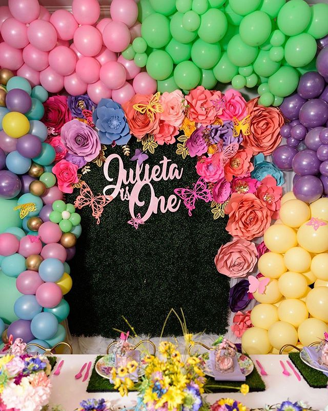 A magical wall for a magical one year old girl. Design & Decor & Florals: @uniqueroseevents @angelicaunique  Rentals: @georgia_party_rentals  Organic Balloons and door arch: @beholdballoons  Custom Lazor cut name: @mypartydivas  Green wall, paper flowers and Butterflies: @heavenlycreated30  Venue: @chale_gardens  Bounce House: @jbpartiesandevents . . . . . . #atlantaeventplanner #eventcoordinator#eventdesign #eventdesigner#atlantaevents #eventprofs#teaparty #children#girls #littlegirls #kids #kidsparty #kidspartydecor #kidspartyplanner#kidspartyideas #party🎉 #partyplanner#partyideas#partydecor  #partyparty#uniqueroseeventsanddesigns #tablescape #childrensdecor#candystation #childrensparty#childrenspartyideas #kidsbirthdayparty#childrensparties #uniqueroseeventsanddesigns