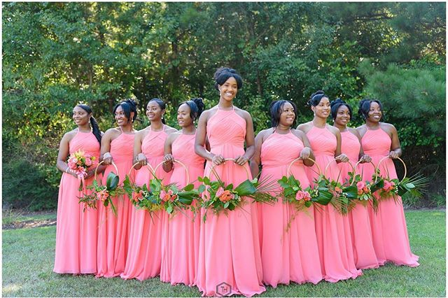 These stunning bridesmaids are stealing the show. 😍 #greatgrace2019  Photography: @taraharpphotography  Planner, Decor & Design: @Uniqueroseevents @angelicaunique Florals: @uniqueroseevents @skeventdesignrentals Nancy Sanchez Day of Coordinator: @soireesbylee Logistics Asst: @el_presidente09  Wedding Cake: @cakesbylameeka The Palms Wooden Estate Tables: @skeventdesignrentals  Chairs: @georgia_party_rentals  Tent: @decorshadetents Uplights: @uplightyourevent Desserts: @deliciasbyjennpr  Caterer: @chefmarkbrown  Venue: @chale_gardens . . . . . . .  #bridesmaidsdresses #bridesmaidshair #weddingflorals #weddingbouquets #weddingday💍  #tyingtheknot #weddingflow#blackbride#munaluchi#weddingvibes#bridesmaiddresses #bridestobe#bride2be#bride2019 #bridalinspo#modernbride#blackbride1998#heputaringonit#theknotweddings#aisleperfect#thedailywedding#atlbride#weddingbliss#hitched#weddedbliss#luxuryweddings#weddingtips #luxwedding #2019bride