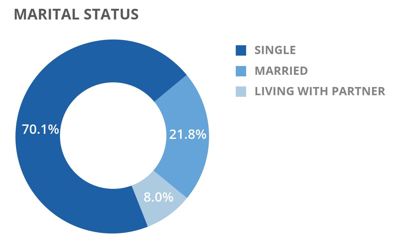 Marital Status Doughnut Chart
