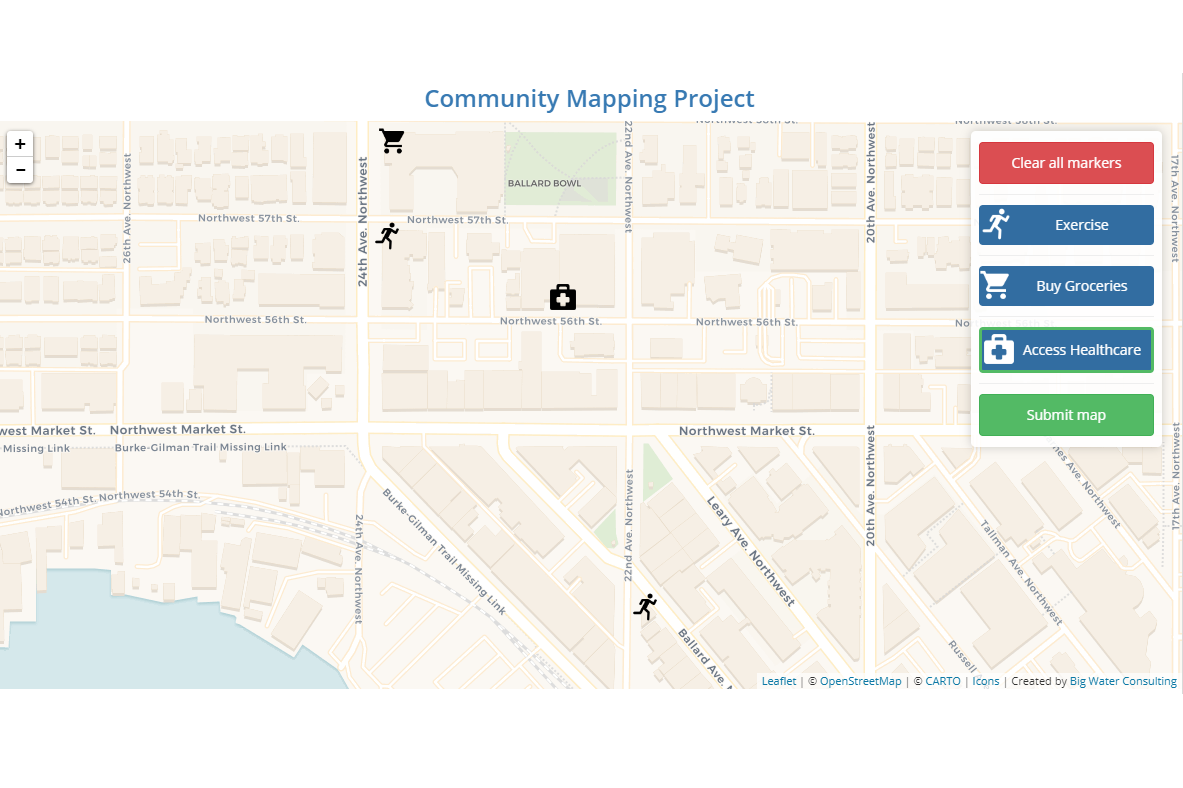 Participatory Mapping - Participatory mapping is a powerful tool to gather direct inputs from community members and identify opportunities and challenges that directly impact the community.