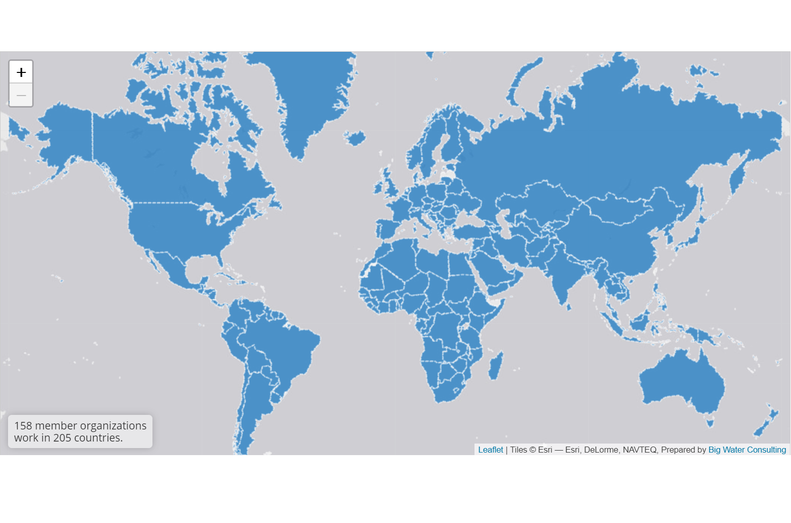 Global Washington Member Map - This is an interactive map we created for Global Washington. It is a powerful example of how Global Washington's members have an impact all over the world!