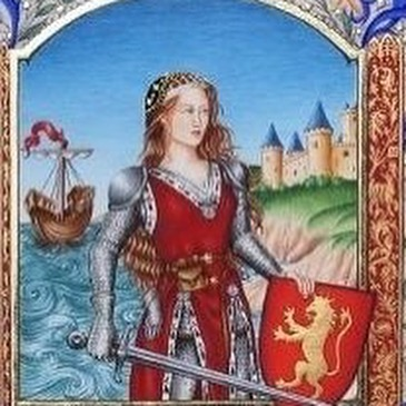 Episode 75, witches! This week, gather ye round to hear the fearsome tale of bad bitch 14th-century pirate Jeanne de Clisson — aka the Lioness of Brittany! @msdeannaelise and @hannahfergesen get goosebumps multiple times in the telling of this one, because this woman's story is ridiculous. She was a French noblewoman, born in 1300, who started off as most highborn women of her era as a dutiful wife and mother (from a VERY young age). During the 100 Years War, her husband was publicly executed as a traitor to France without any evidence whatsoever. This turned out to be a VERY BAD choice on their part, because Jeanne deeply loved him, and they had now officially pissed off the wrong woman. How much havoc did she bring to France? You'll have to listen to find out! • • #gwbb #goodwitchesbadbitches #podcast #womenwhopodcast #feminist #feminism #france #french #history #herstory #100yearswar #jeannedeclisson #tigressedebretagne #lionessofbrittany #pirate #femalepirate #ladypirates #badbitch