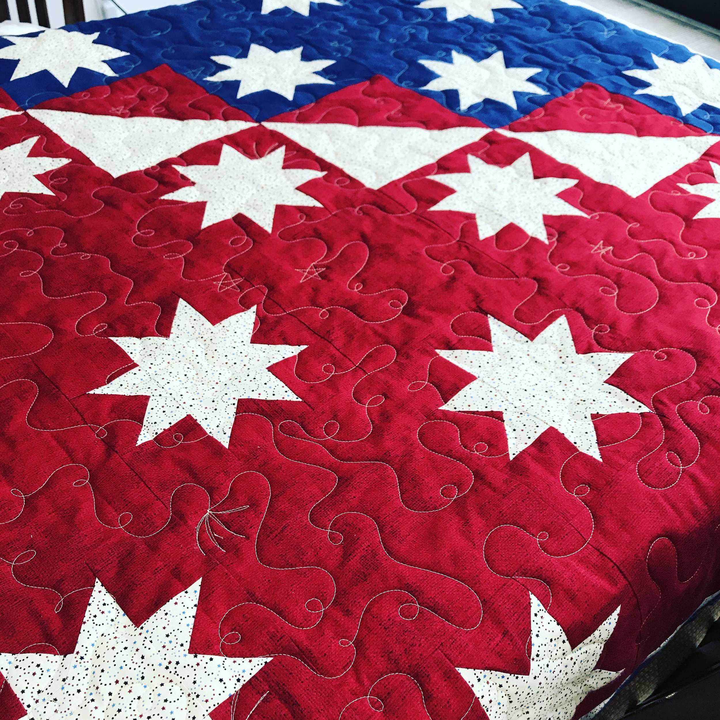 All-over design for Quilts of Valor