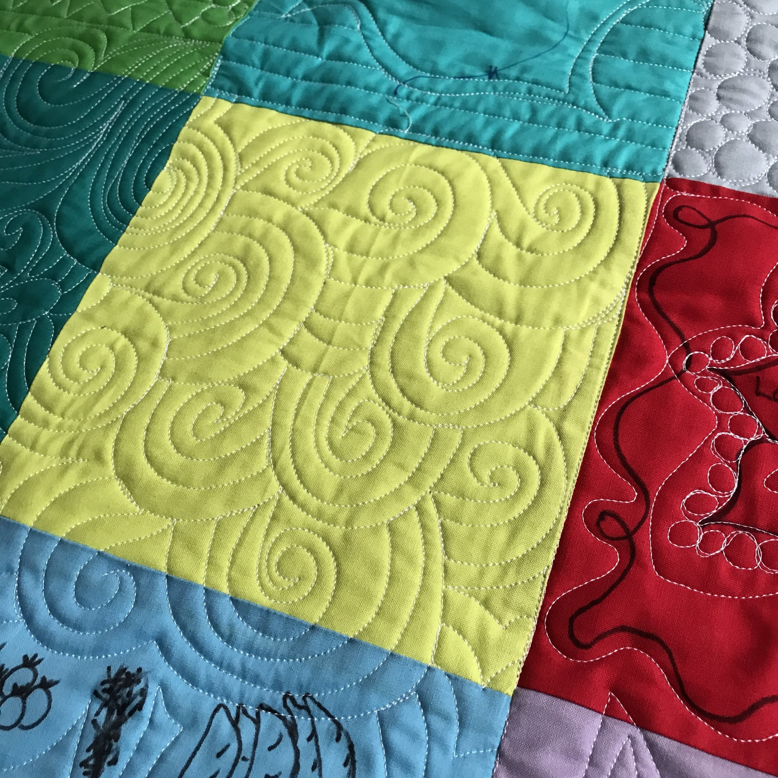 Custom grafitti quilting
