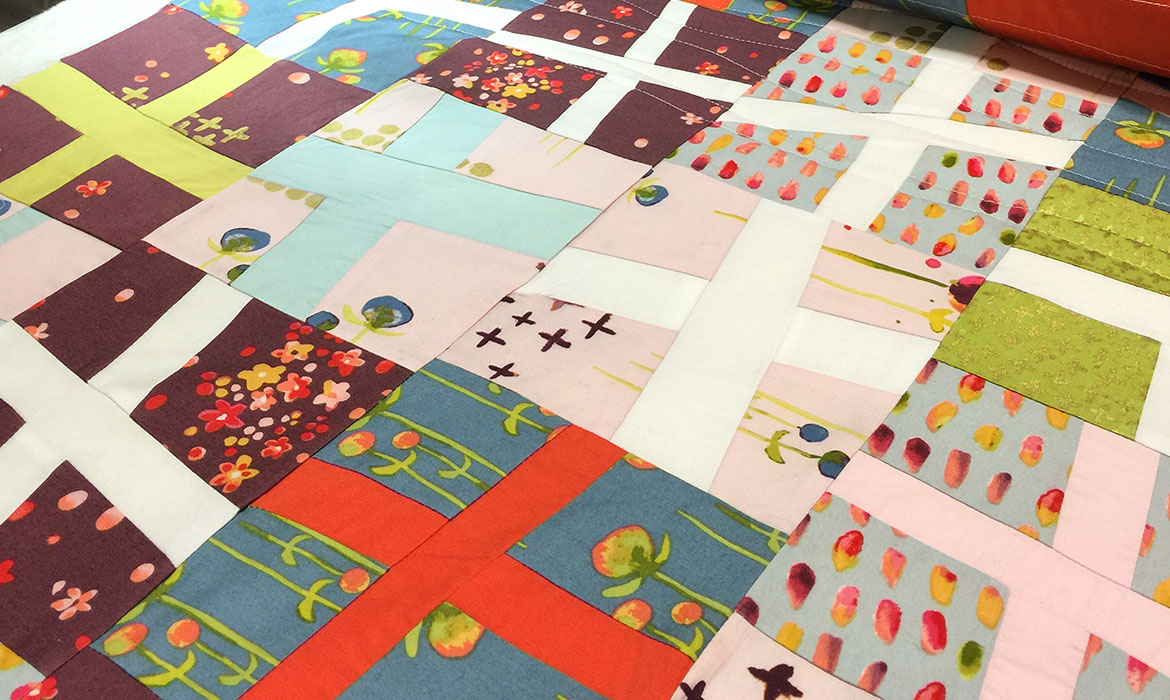 Modern Patchwork Cross Quilt