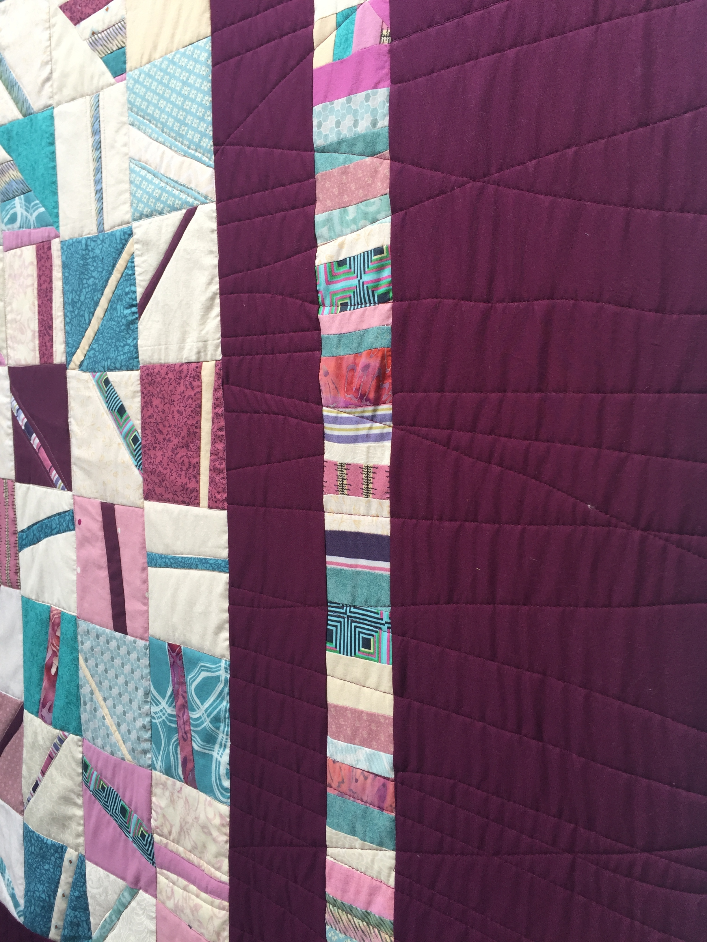 Light custom quilting