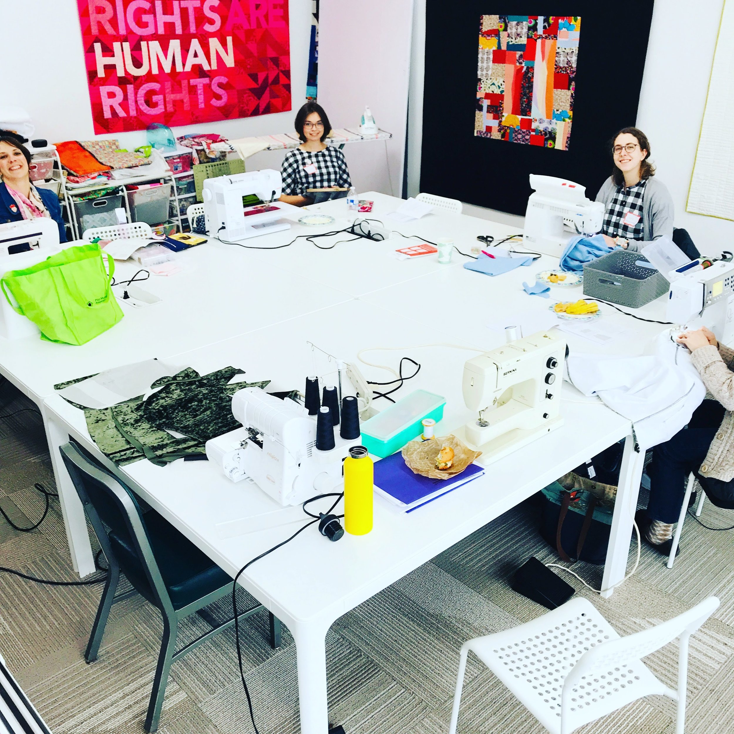 The Twin Cities Sewists held a Sew Day at Field Trip Quilting Studio