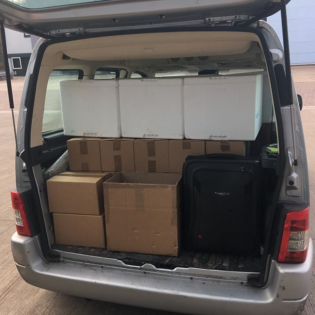 Bottling of our first 3 flavours is complete! We have a couple of lovely full pallets going to our storage facility but Jen now gets to chaperone these 48 boxes back to Nottingham. This may be a long, if happy,  6 hour drive 🚐😊🚐#tonic #ginandtonic