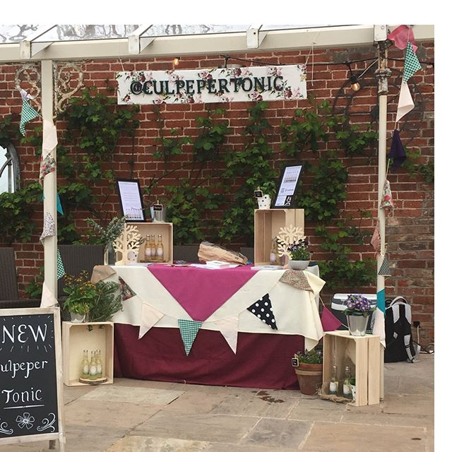 Excited to be at Beeston Fields Spring Fair this morning! If you are in Nottinghamshire pop by the Walled Garden for a chat and to try our freshly bottled Culpeper Tonic 🙂🍸🙂 #tonic #ginandtonic