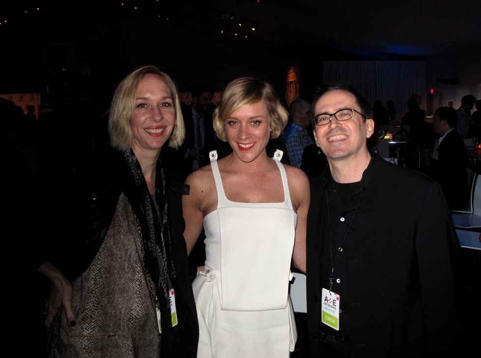 Amanda Bouquet, Chloë Sevigny and DJ Andy Anderson (A+E Network Upfronts)