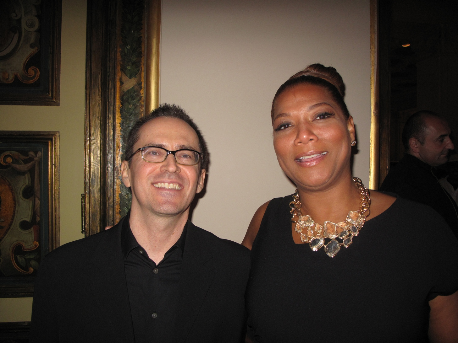DJ Andy Anderson and Queen Latifah (Steel Magnolias premiere party)