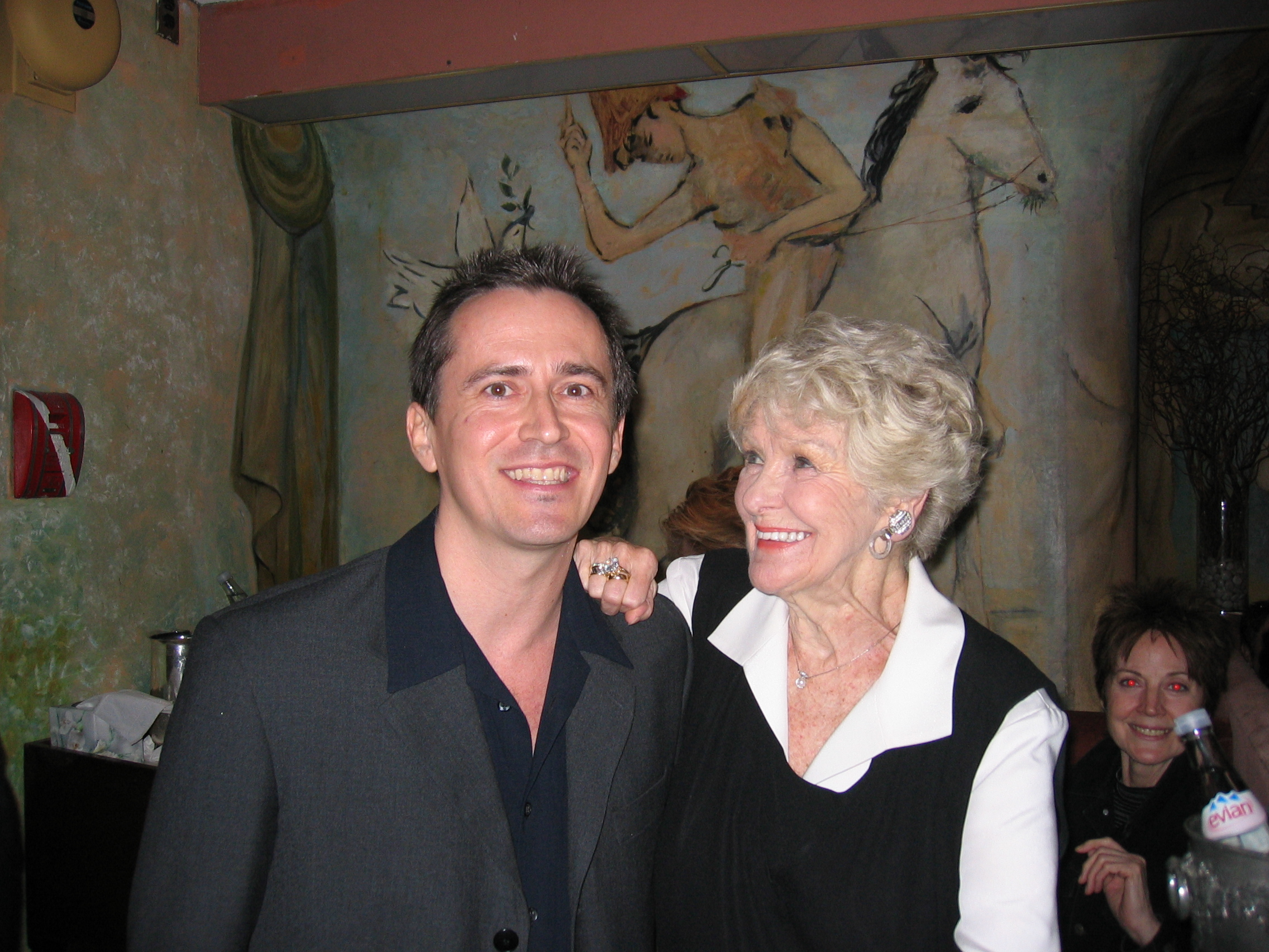 DJ Andy Anderson and Elaine Stritch (The Pierre anniversary event)