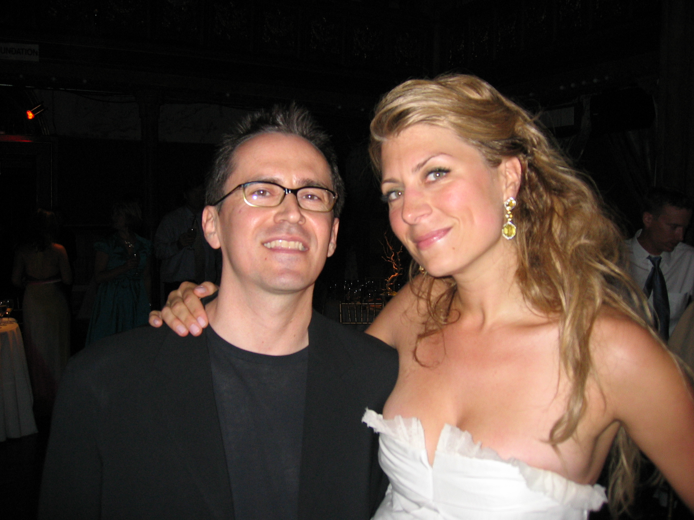 DJ Andy Anderson and Trading Spaces host Genevieve Gorder (Gorder/Harcott wedding)