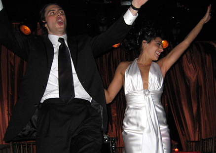 Newlyweds Andrew W.K. and Cherie Pourtabib (Pourtabib/W.K. wedding)