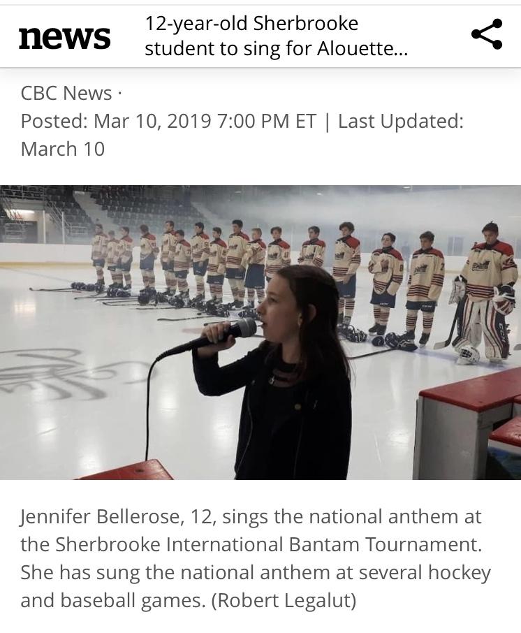 English Press Article CBC Montreal, march 9 2019