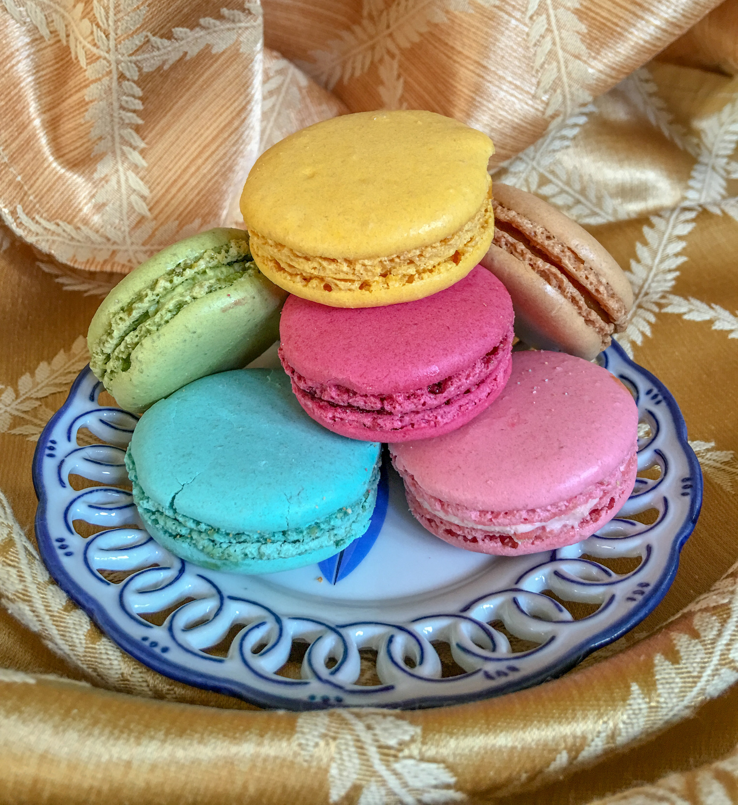 French Macaroons, staged