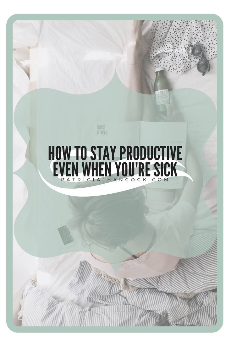 A comprehensive guide to keep you productive when you're sick. Easy tasks to tackle to keep your sick days productive without exhausting you in the process. They're easy and don't require physical exertion to complete.