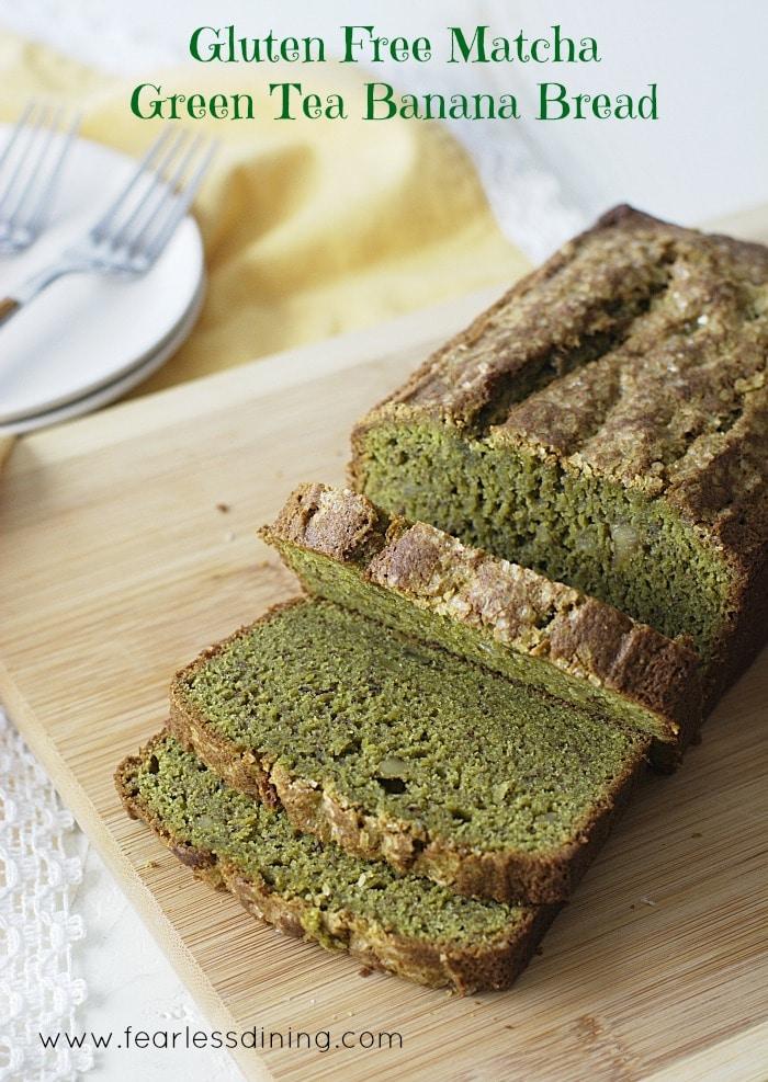 Green Tea Banana Bread -