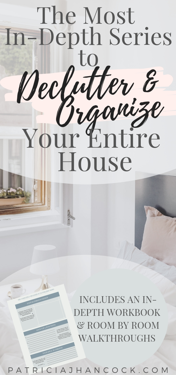Learn how to completely organize and declutter your home with this in-depth room by room series. These tips and tricks have been thoroughly tested & are used by professionals to keep their house spotless and functional. Get your home organized with these simple, easy steps. Includes a printable workbook! #organization #home #declutter #organizemyhome #clutterfree