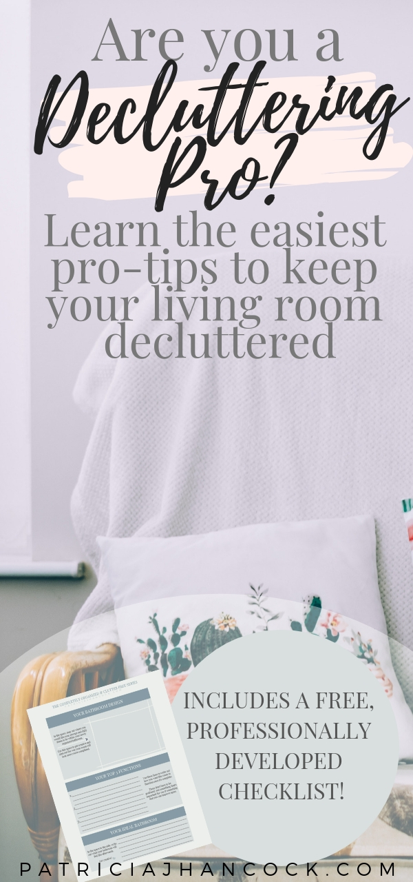 Learn how to completely organize and declutter your home with this in-depth room by room series. These tips and tricks have been thoroughly tested & are used by professionals to keep their house spotless and functional. In this article, your living room will be perfected with these simple, easy steps. Includes a printable worksheet! #organization #home #declutter #organizemyhome #clutterfree