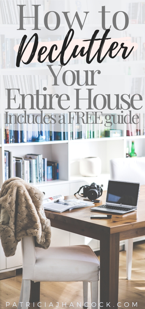 Use this free guide to completely organize and declutter your home with this inclusive room by room series! These decluttering tips have been thoroughly tested & are used by professionals to keep their house organized and functional. Get your home clean and organized with these simple, easy steps! #organization #home #declutter #organizemyhome #clutterfree #minimalism