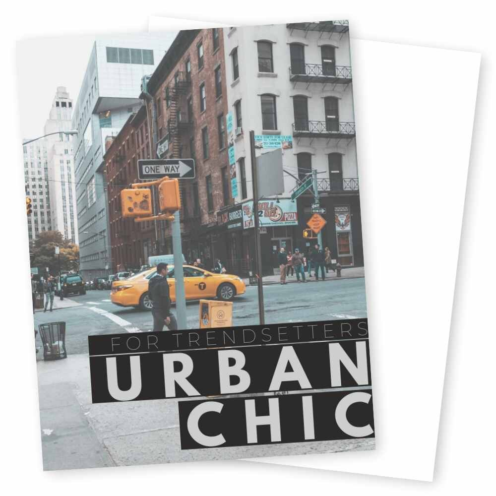 Urban Chic Series - Wow your client with the pops of color and the boldness of monochrome in our Urban Chic series. This Manhattan-inspired series gives your client the experience of sophistication and realness.From light greys to pops of taxi-cab yellow, Urban Chic will help you to catch your client's eye in all of the right places.In this series, let your content shine in bold design and striking photo-placements while treating your clients to a chic, unforgettable experience!