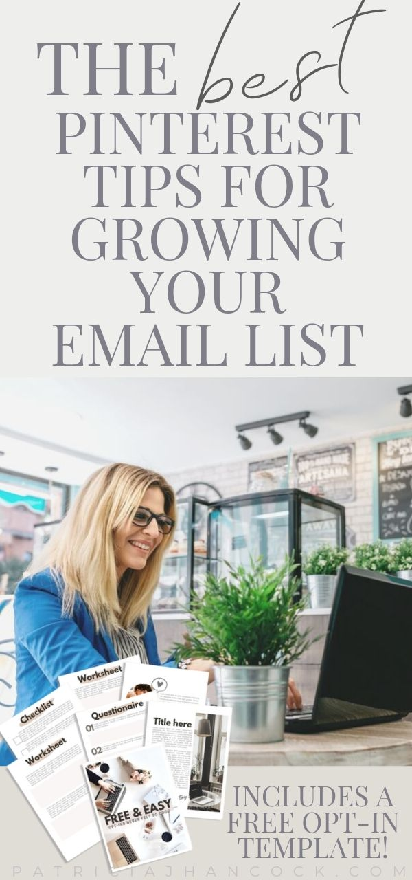 In this article, you'll learn how to utilize Pinterest to grow your email list and completely explode your email list! We'll cover which email opt-in does best on Pinterest and what best practices you can do now to build your email list! #emaillist #emailmarketing #business #optinideas #pinterestmarketing #entrepreneur
