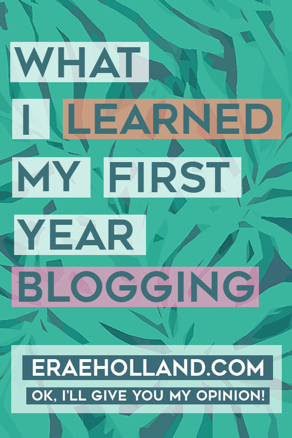 What I Learned My First Year Blogging!