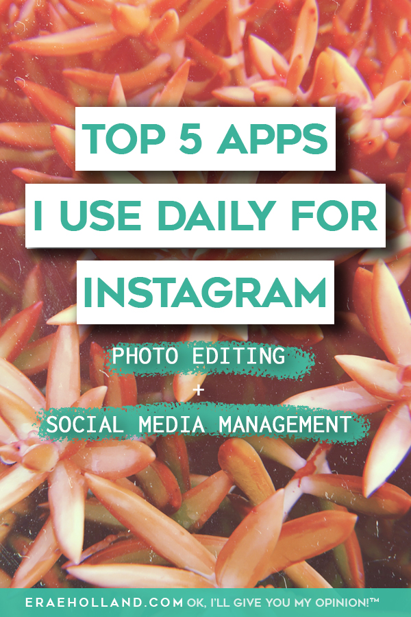 TOP 5 APPS I USE DAILY FOR INSTAGRAM- this was edited with KUNI Cam