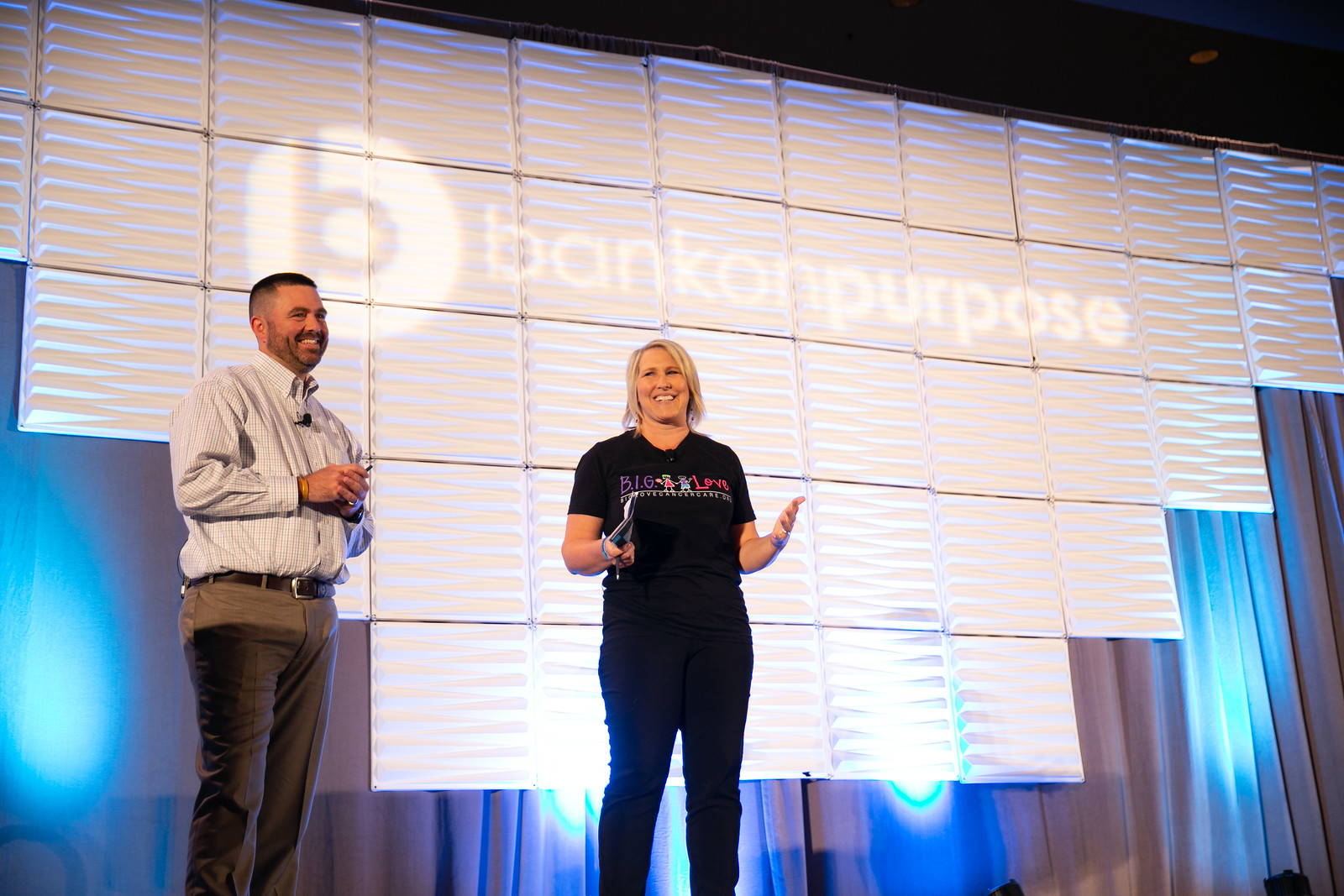 Dallas and B.I.G. Love's founder, Jessica Phillips, share some happy memories of Ollie and Brooke on stage at BankOnPurpose. They were both special kids, and they are still spreading smiles!
