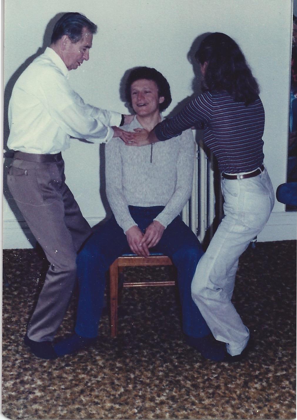 Patrick Macdonald teaching Pamela, 1979