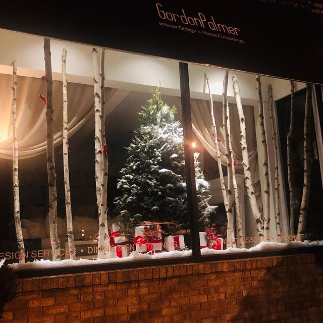 I designed this years window with Aspen, one of my favorite winter destinations, on my mind. It's a lovely winter wonderland. Stop by for  beautiful holiday gifts!