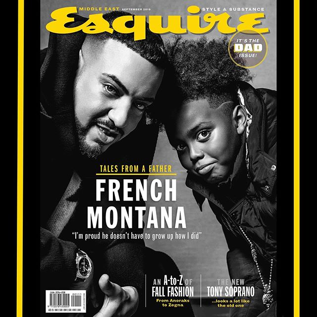 So proud to see my handsome nephew in this months issue of Esquire magazine. A great Monday read ❤️ https://www.esquireme.com/content/38475-french-montana-on-fatherhood