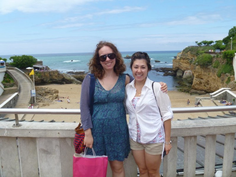 A bestie and I in Biarritz, France. Circa 2012.