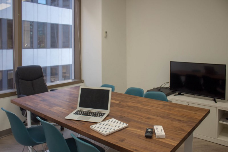 Private office set-up.