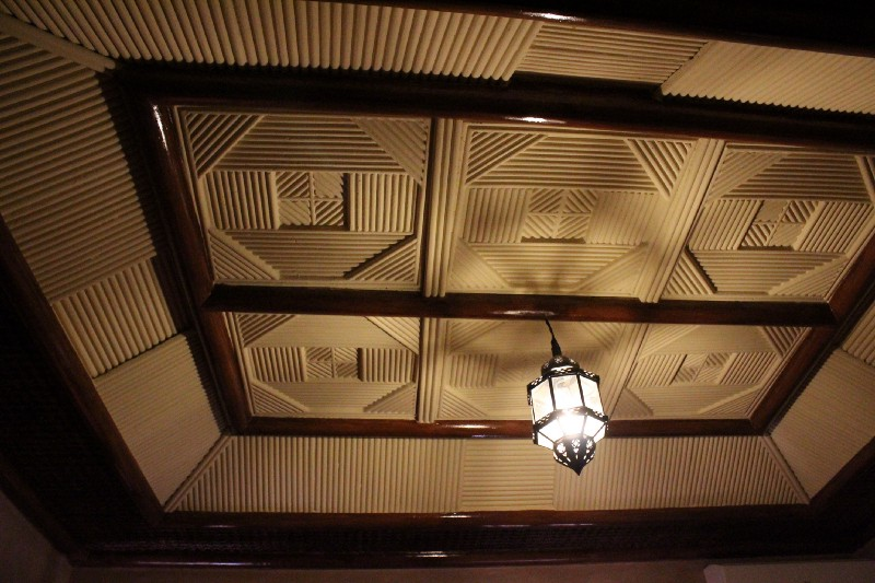Even the ceilings are distracting in Morocco!