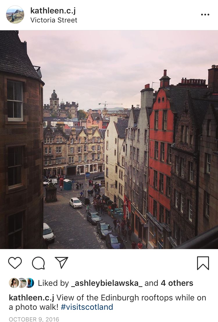 The first of many Instagram posts while in Edinburgh.