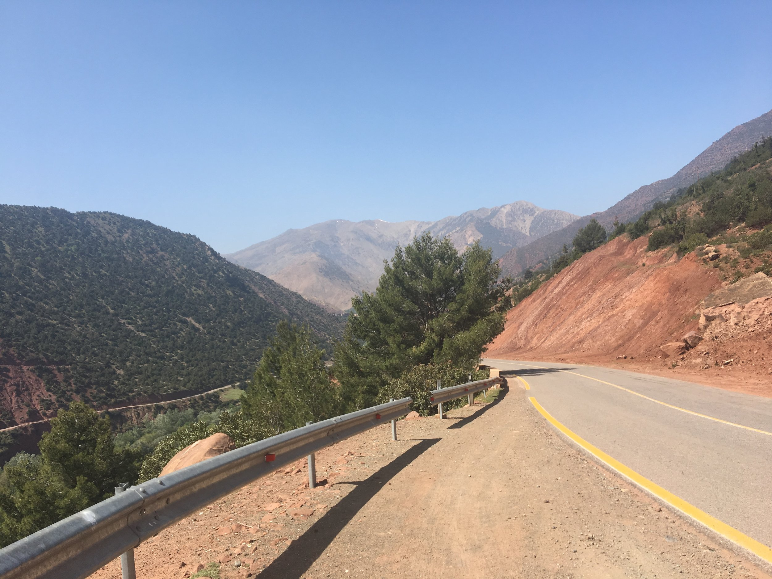 Photo I took of the road in the Atlas Mountains, Morocco.