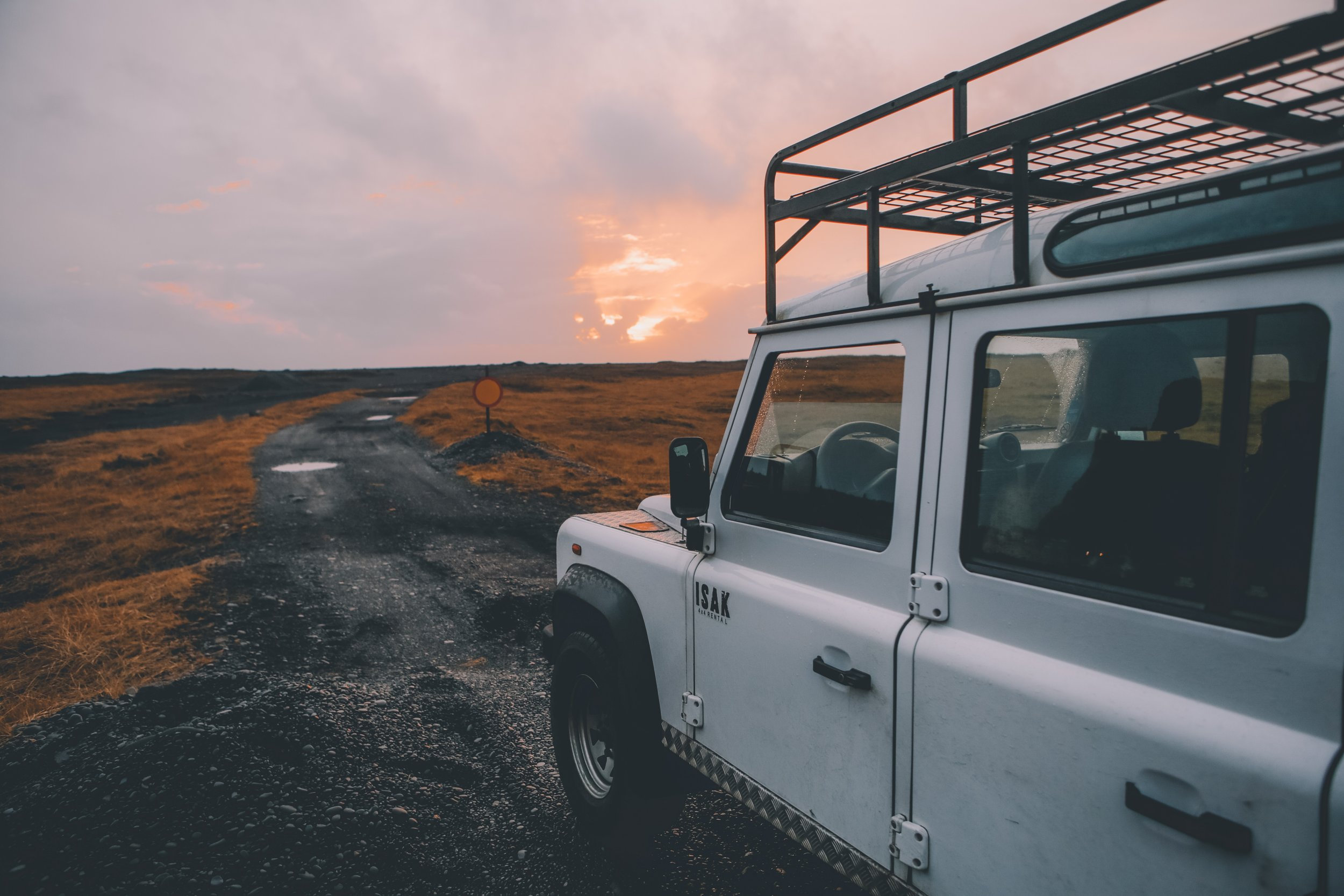 The joy of the open road - photo from unsplash, by Tim Trad.