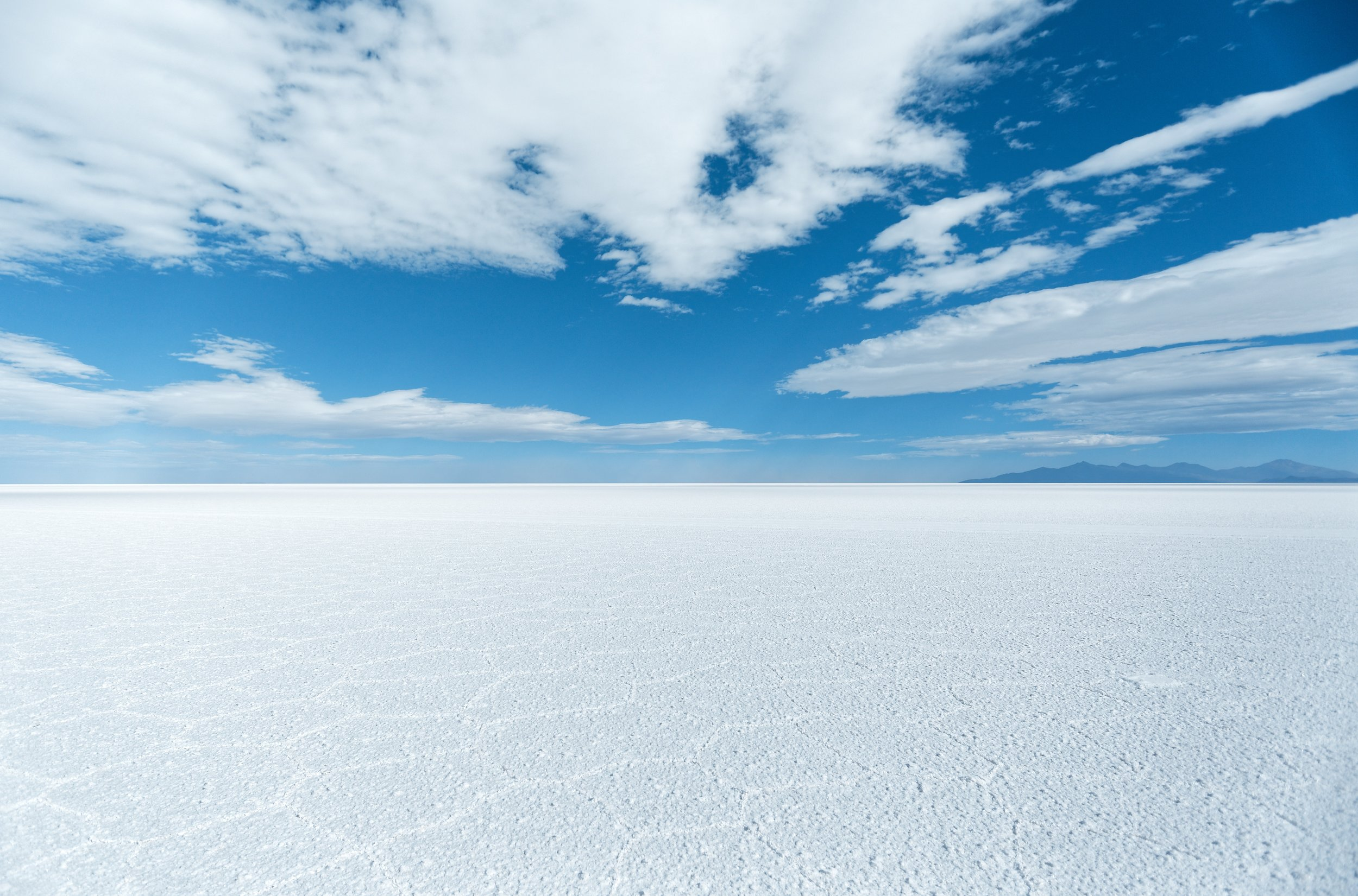 The Salt Flats in Bolivia, from Unsplash, by Diego.
