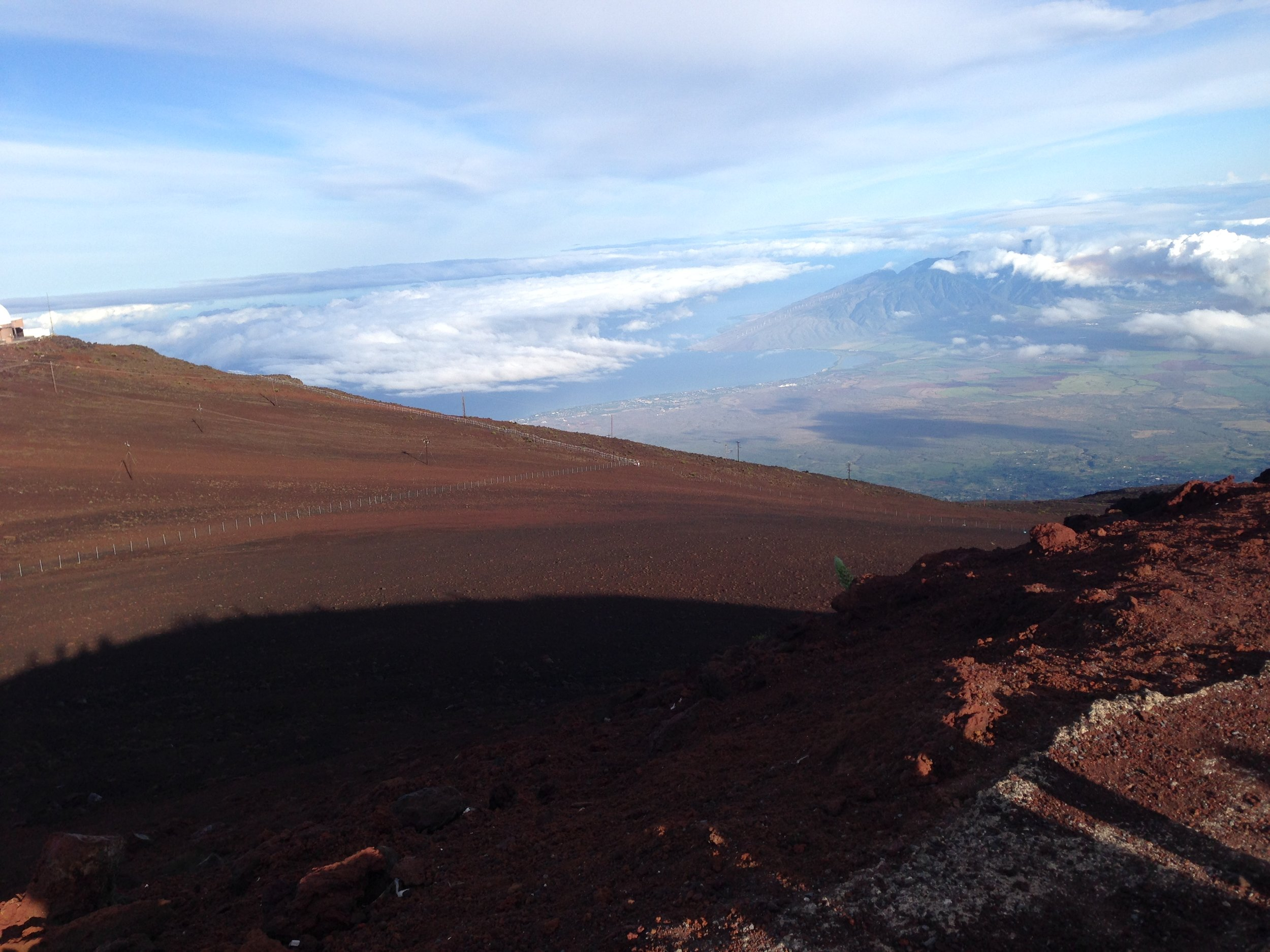 Haleakala National Park in Maui, Hawaii when the sun finally decided to show up!