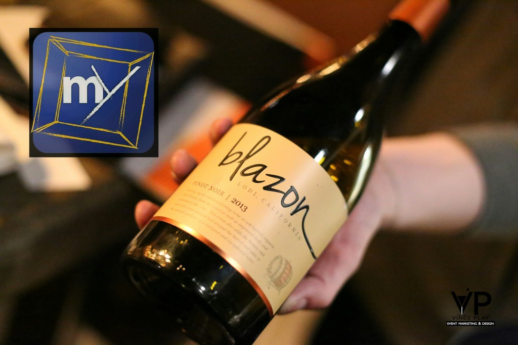2. Blazon – Pinot Noir  This wine creates a lasting impression with substantial flavors and aromas, yet has a delicate palate. Perfectly balanced, medium bodied flavors of black cherry and currant accented with a hint of spiciness. Deliciously smooth, rich, and velvety for a sensational finish.