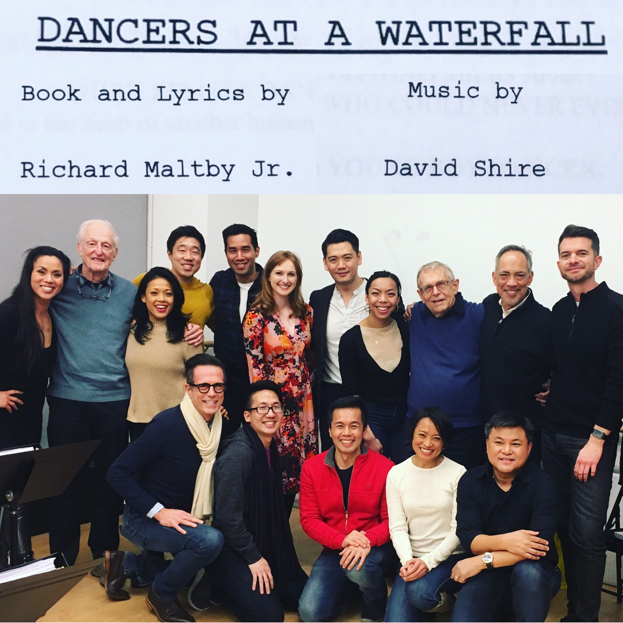 Cast & Team of Maltby & Shire's DANCERS AT A WATERFALL