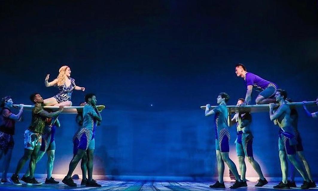 """Berklea Going (Sophie) & Karl Josef Co (Sky) in """"Lay All Your Love"""""""