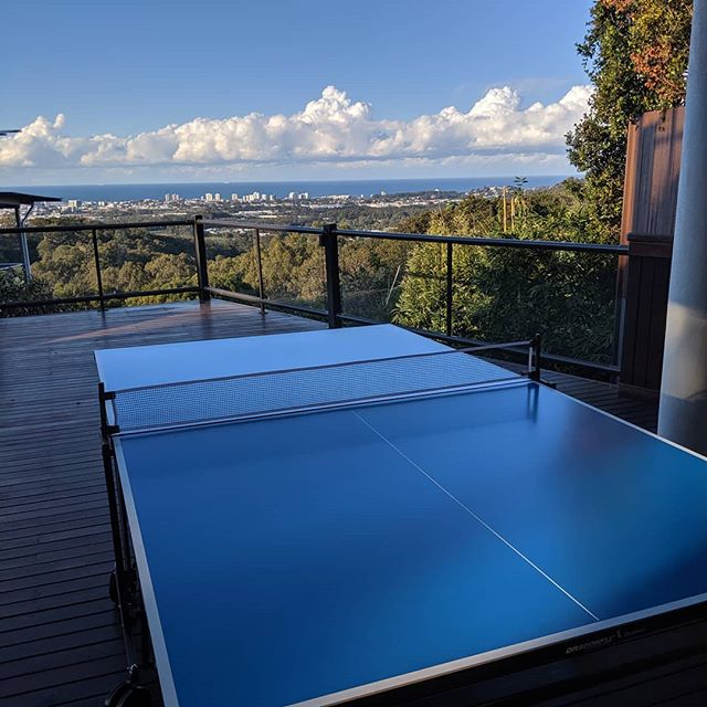 What a view for installing outdoor table tennis table today 😍 🎾 the Sunshine Coast turning it on as usual.  #gymfix_sunshinecoast #keepsyourunning #sunnycoastlife #sunshinecoasthealthandfitness #buderim #tabletennis