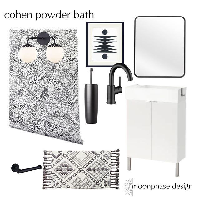 powder baths are one of my favorite spaces to play with. their small size gives great opportunities to take risks with a bold wallpaper or a fun light fixture. this space pulls together a mix of high and low budget items, including the existing @ikeausa sink cabinet.
