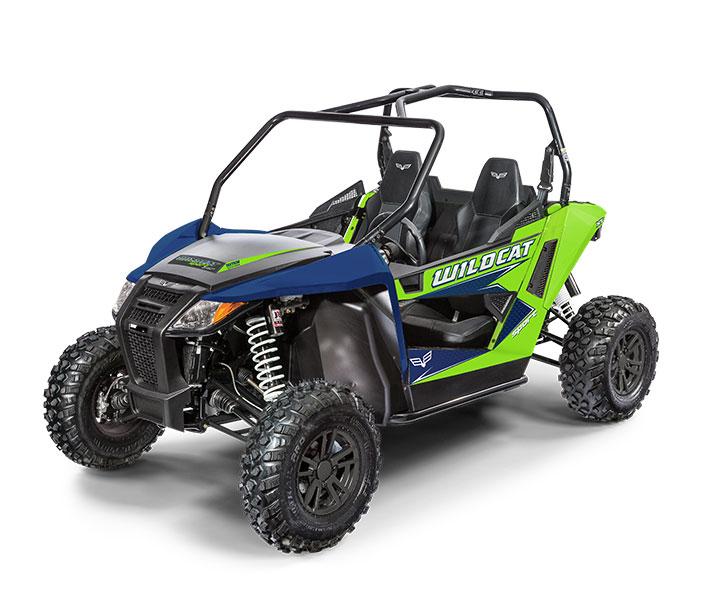 WILDCAT SPORT XT / 2-PASSENGER ($13,499)   700cc Twin-Cylinder, Closed-Loop EFI engine  >>  Infinitely Adjustable Tilt Steering  >>  JRi ECX-1 Shocks® Double A-Arm Suspension  >>  2-Inch Receiver  >>  Electronic Power Steering    WATCH THE VIDEO