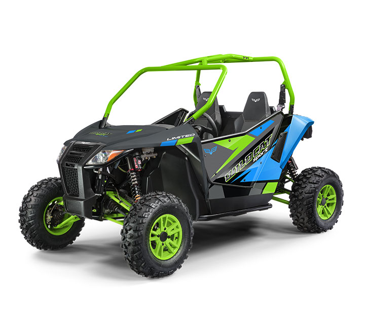 WILDCAT SPORT LTD / 2-PASSENGER ($14,999)   700cc Twin-Cylinder, Closed-Loop EFI engine  >>  Infinitely Adjustable Tilt Steering  >>  Elka® Stage 5 Double A-Arm Suspension  >>  2-inch Receiver  >>  Electronic Power Steering  >>  Standard Doors    WATCH THE VIDEO