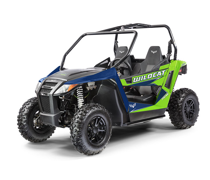 WILDCAT TRAIL XT / 2-PASSENGER ($12,499)   50-inch Width for Class I Trail Access  >>  700cc Twin-Cylinder, Closed-Loop EFI Engine  >>  Infinitely Adjustable Steering  >>  FOX® Shock Double A-Arm Suspension  >>  Electronic Power Steering    WA    TCH THE VIDEO